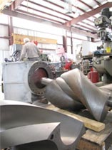 Large scale machining